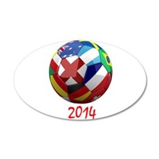 2014 Soccerball.png Wall Decal