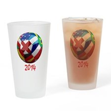 2014 Soccerball.png Drinking Glass