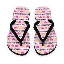 I Love My Griffonese Flip Flops