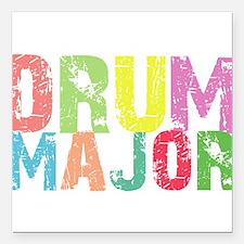 """Drum Majors Square Car Magnet 3"""" x 3"""""""