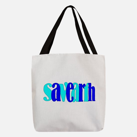 save the earth Polyester Tote Bag
