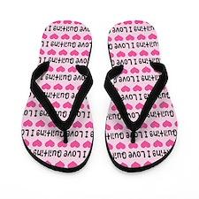 I Love Quilting Flip Flops