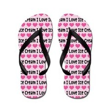 I Love Ice Cream Flip Flops
