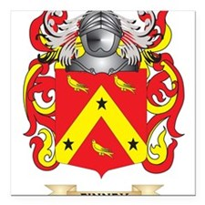 """Finney Coat of Arms Square Car Magnet 3"""" x 3"""""""
