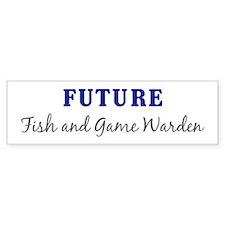 Future Fish and Game Warden Bumper Bumper Sticker
