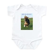 Cute German sheppards Infant Bodysuit