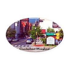 Cumberland Maryland Oval Car Magnet