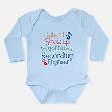 Future Recording engineer Long Sleeve Infant Bodys