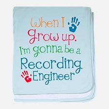 Future Recording engineer baby blanket