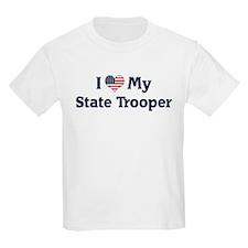 I Love My State Trooper Kids T-Shirt
