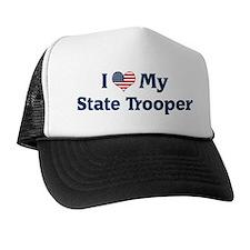 I Love My State Trooper Trucker Hat