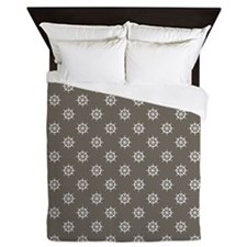 Wet Sand Brown Ship's Wheels Queen Duvet
