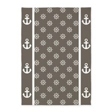 Wet Sand Brown Ship's Wheels 5'x7'Area Rug