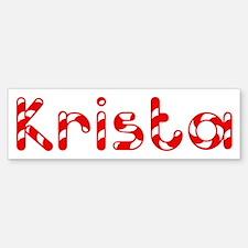 Krista - Candy Cane Bumper Bumper Bumper Sticker
