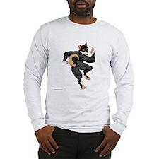 Shiba Inu Ninja - Black and Tan Long Sleeve T-Shir