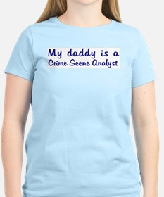 Crime Scene Analyst - My Dadd Women's Pink T-Shirt