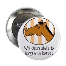 "cute horse funny barn 2.25"" Button (10 pack)"
