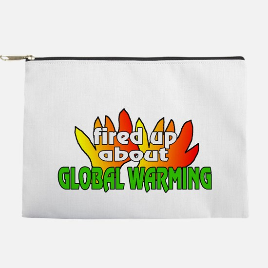 global warming design Makeup Pouch