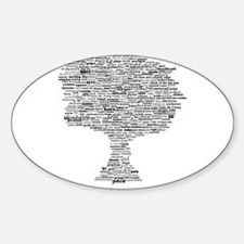 Goddess Tree Sticker (Oval)