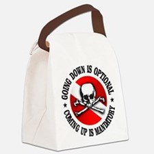 Going Down Is Optional Canvas Lunch Bag