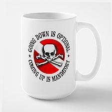 Going Down Is Optional Mug