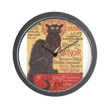 chat-noir.png Wall Clock