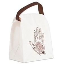 Henna Hand Canvas Lunch Bag