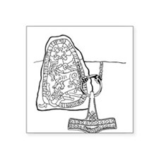 "rune-stone-2.png Square Sticker 3"" x 3"""