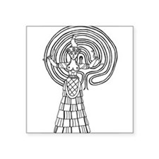 """Crete Goddess Square Sticker 3"""" x 3"""""""