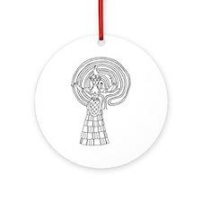 Crete Goddess Ornament (Round)