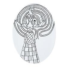 Crete Goddess Ornament (Oval)