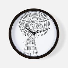 Crete Goddess Wall Clock