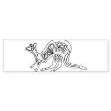 kangaroo-crop.png Bumper Sticker