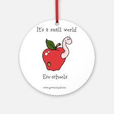 Eco-worm for schools Ornament (Round)