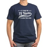 75th birthday Fitted T-shirts (Dark)