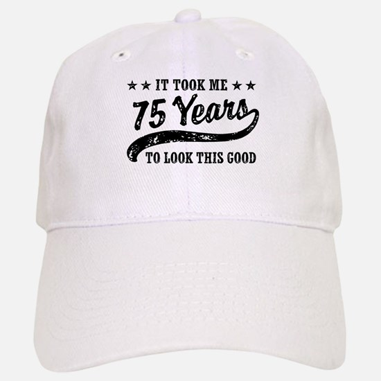 Funny 75th Birthday Baseball Baseball Cap