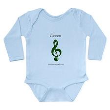 Green music note Long Sleeve Infant Bodysuit