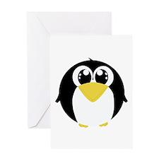 Closeup Penguin (bl) Greeting Card