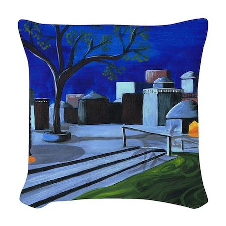 Ganges Moonlight by Anne Alden Woven Throw Pillow