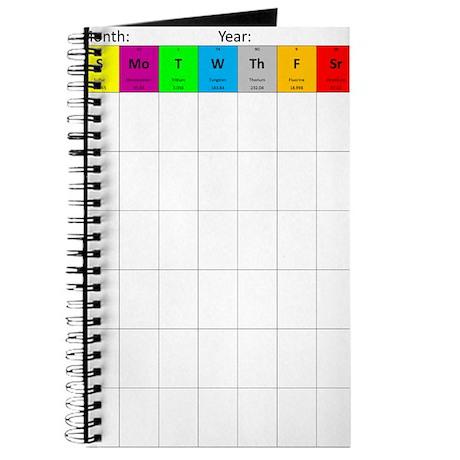 Monthly Element Calendar Journal