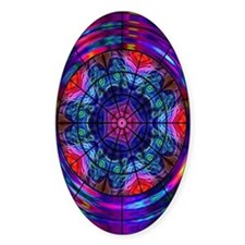 Kaleidoscope Fractal 008 Oval Decal