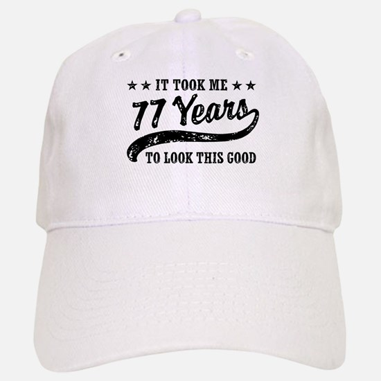Funny 77th Birthday Baseball Baseball Cap