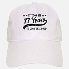 Funny 77th Birthday Cap