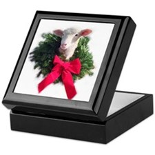 Christmas Lamb Keepsake Box