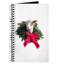 Ewephoric Christmas Wreath Lamb Journal