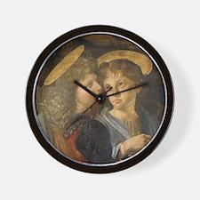 Baptism of Christ Angels Leonardo da Vi Wall Clock