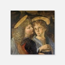 """Baptism of Christ Angels Le Square Sticker 3"""" x 3"""""""