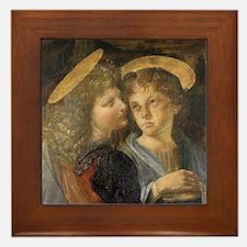 Baptism of Christ Angels Leonardo da V Framed Tile