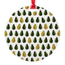 Avocado Pattern Ornament