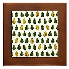Avocado Pattern Framed Tile